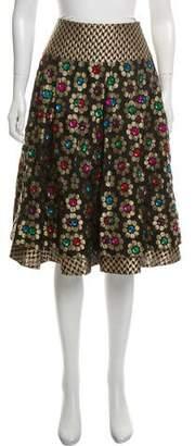 Manish Arora Silk Embellished Skirt