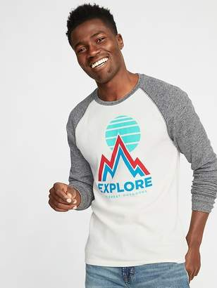 Old Navy Graphic Built-In Flex Thermal-Knit Raglan Tee for Men