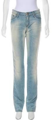 Blumarine Mid-Rise Straight-Leg Jeans