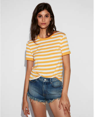 Express one eleven striped boxy tee