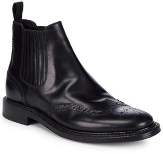 Brioni Goodyear Leather Brogue Ankle Boot