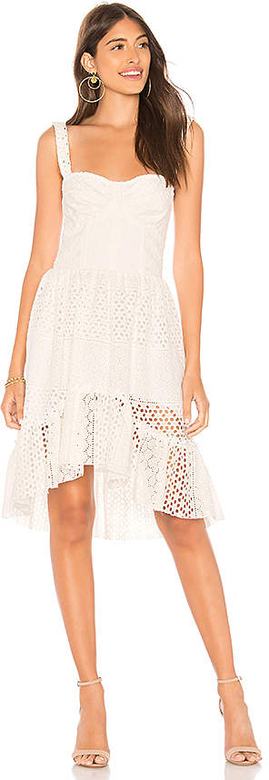 Karina Grimaldi Rosi Eyelet Mini Dress