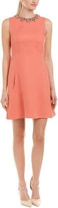 Valentino Embellished Linen A-Line Dress