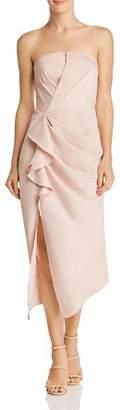 C/Meo Collective No Less Strapless Midi Dress