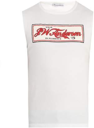 J.W.Anderson Logo-print ribbed cotton-jersey tank top