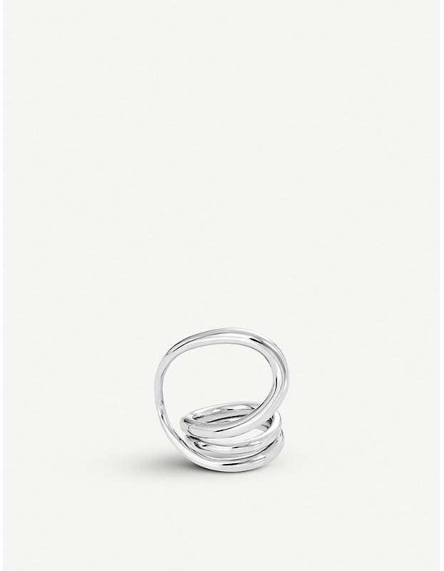 Wraparound sterling silver ring