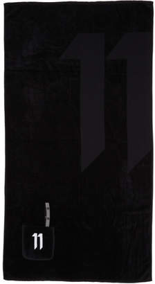 11 By Boris Bidjan Saberi Black Logo Towel