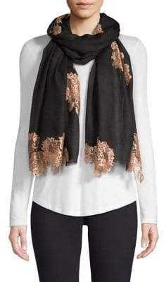 Bindya Evening Lace Wool& Silk Scarf