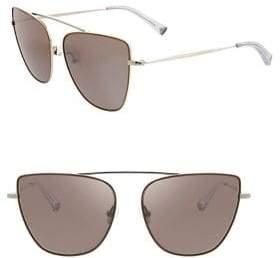 KENDALL + KYLIE 59MM Bridgeless Cat Eye Sunglasses