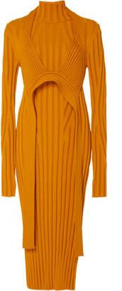 Proenza Schouler Detachable Rib-Knit Wool-Blend Midi Dress Size: XS