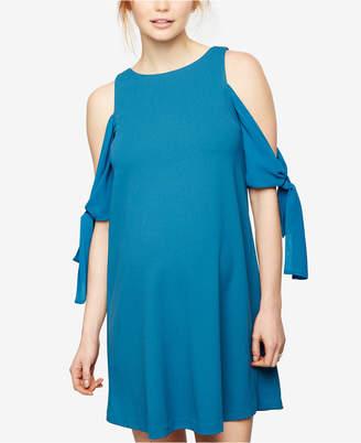 Taylor Maternity Cold-Shoulder Shift Dress