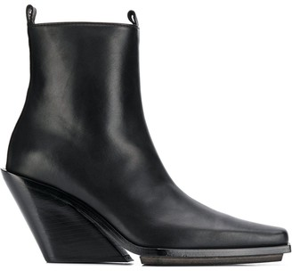 Ann Demeulemeester wedge heel ankle boots