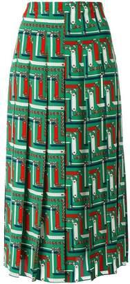 Gucci bridal strap print skirt