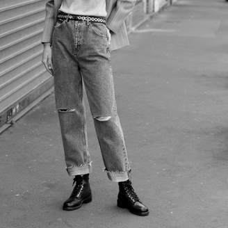 Sandro Straight-cut, high-waisted jeans