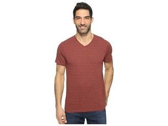 Agave Denim Hal Short Sleeve V-Neck Tri-Blend Jersey Stripe Block Men's Clothing
