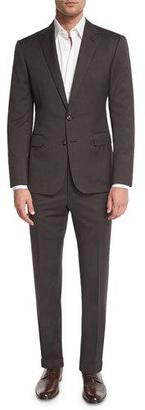 Ralph Lauren Anthony Houndstooth Two-Piece Suit, Olive $2,295 thestylecure.com