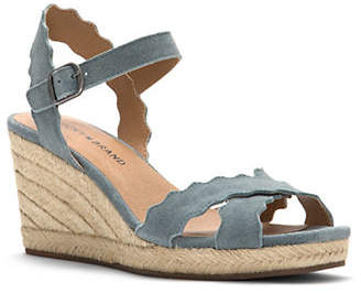 Lucky Brand Marleigh Suede Wedge Sandals