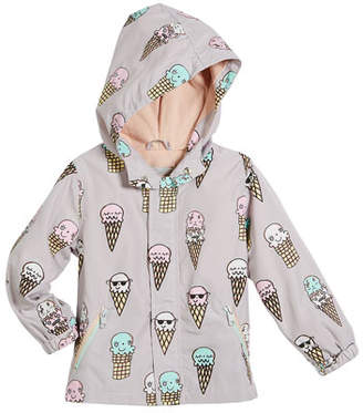 Stella McCartney Eve Color-Changing Ice Cream Hooded Jacket, Size 12-36 Months