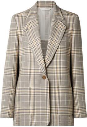 Acne Studios Jana Checked Cotton-blend Blazer - Gray