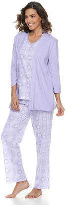 Croft & Barrow Women's 3-piece Pajama Set