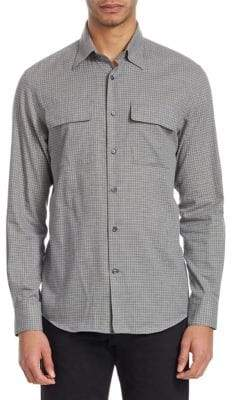 Ralph Lauren Purple Label Checked Button-Front Shirt