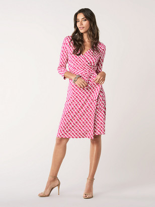 Diane von Furstenberg New Julian Two Silk-Jersey Wrap Dress