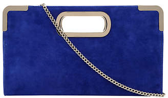 Dune Eveiz Suede Metallic Detailed Shoulder Bag, Cobalt Blue