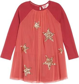 Boden Mini Sparkle Mesh Dress