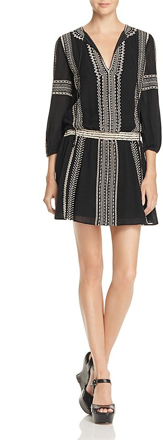 Alice + Olivia Jolene Embroidered Dress