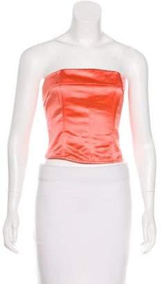 Chanel Silk Bustier Top