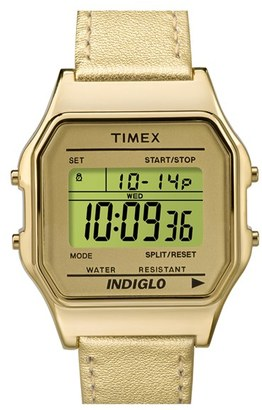 Timex ® 'Originals' Digital Leather Strap Watch, 34mm $46 thestylecure.com