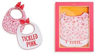 Kate Spade new york Tickled Pink Baby BIB Gift Box Set 2 Pieces Set