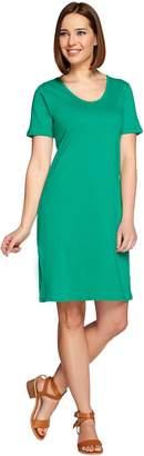 Denim & Co. Essentials Scoop Neck Short Sleeve Dress