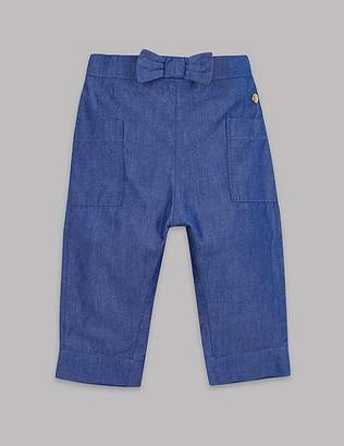 Marks and Spencer Pure Cotton Chambray Trousers