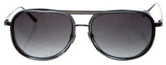 Linda Farrow Tinted Aviator Sunglasses