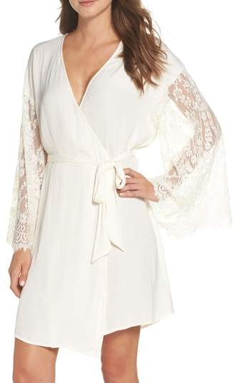 Love Struck Lace Trim Wrap