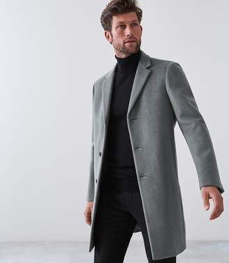 Reiss Our last order date for Christmas has now passed GABLE WOOL EPSOM OVERCOAT Sage