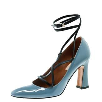 8336353f1a9 Valentino Grey Patent leather Heels