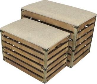 Gracie Oaks Probst Upholstered Storage Bench Gracie Oaks