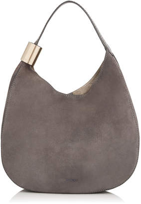 Jimmy Choo STEVIE Dark Grey Suede and Elaphe Shoulder Bag