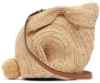 Loewe Bunny Mini Raffia Cross Body Bag - Womens - Cream