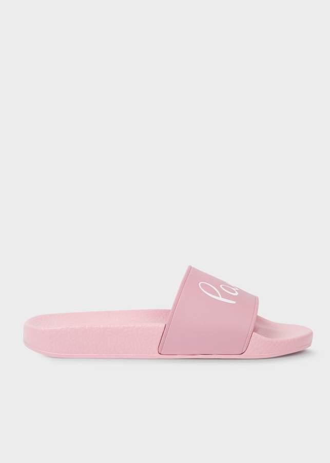 Women's 'Rubina' Powder Pink Signature Slides