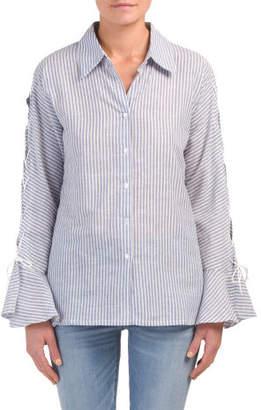 Linen Bell Sleeve Shirt