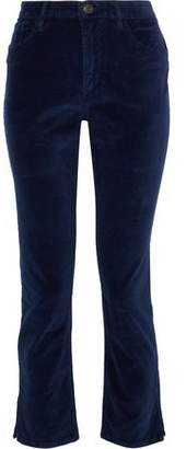 3x1 Higher Ground Cropped Cotton-Blend Velvet Slim-Leg Pants