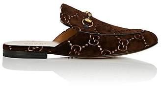 Gucci Men's Princetown Velvet Slippers