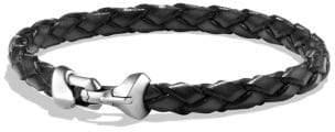 David Yurman Davidyurman Armory Leather Bracelet In Black