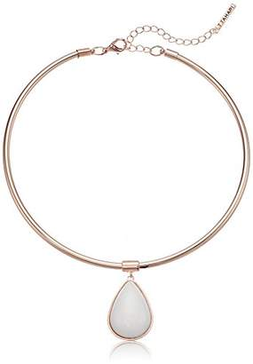 T Tahari Womens Marina Club Collar Necklace With Stones