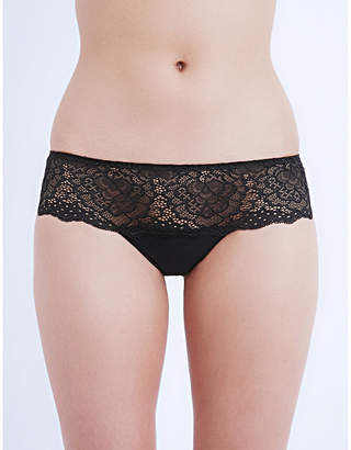 Simone Perele Caresse jersey and stretch-lace shorty briefs