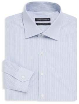 Saks Fifth Avenue BLACK Dobby Stripe Long Sleeve Shirt