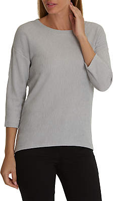 Betty Barclay Long Crinkle Top, Light Silver